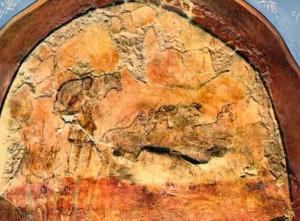 """Good shepherd"" in baptistry at Dura-Europos"